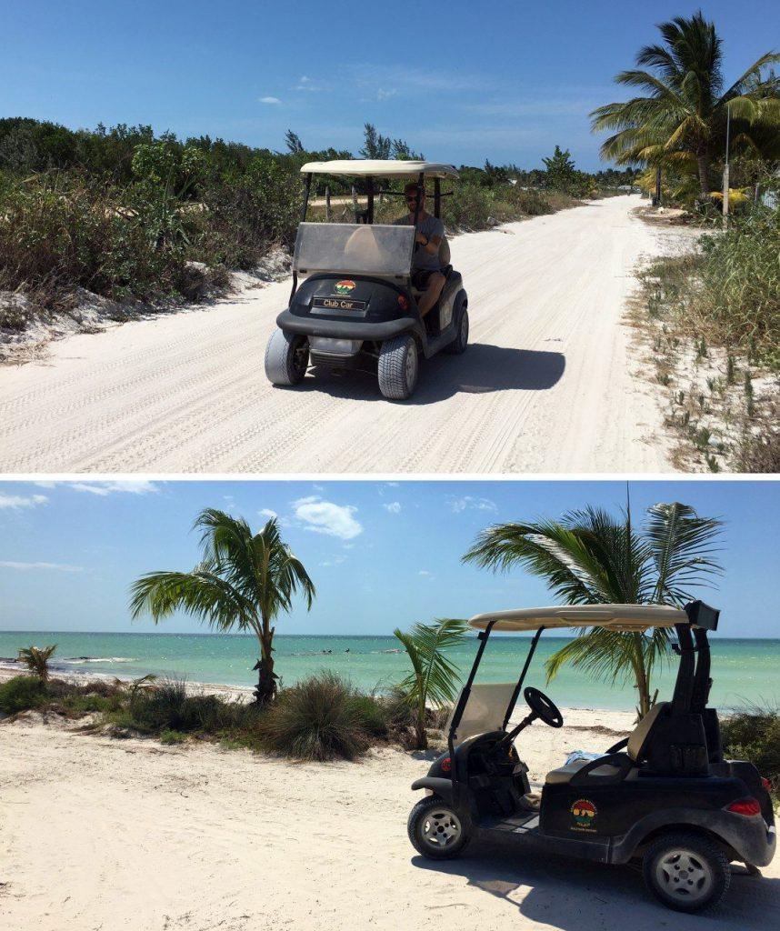 golfkarretje isla holbox