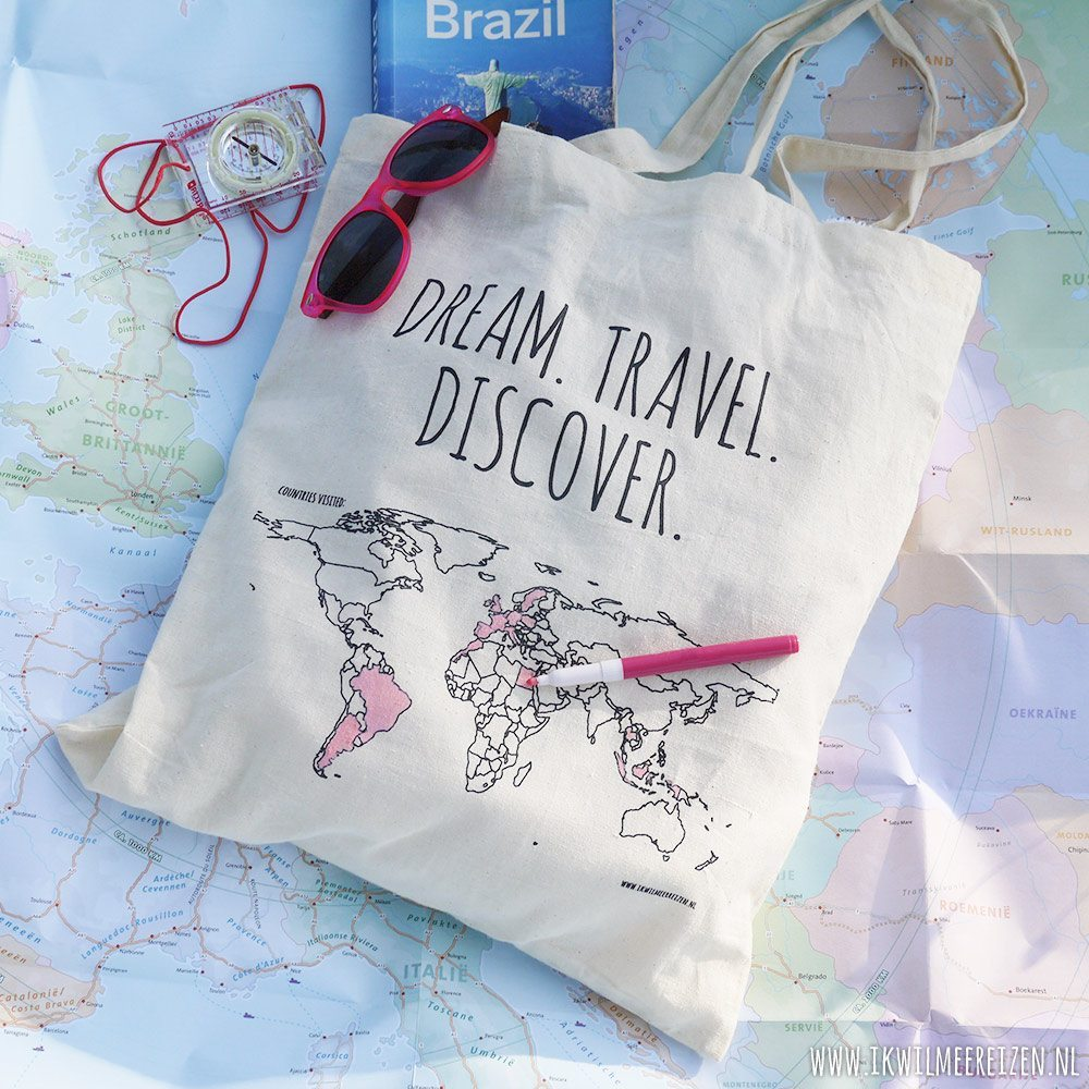 Katoenen tas 'Colour your world'