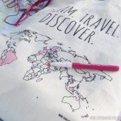 Linnen tas 'Colour your world'