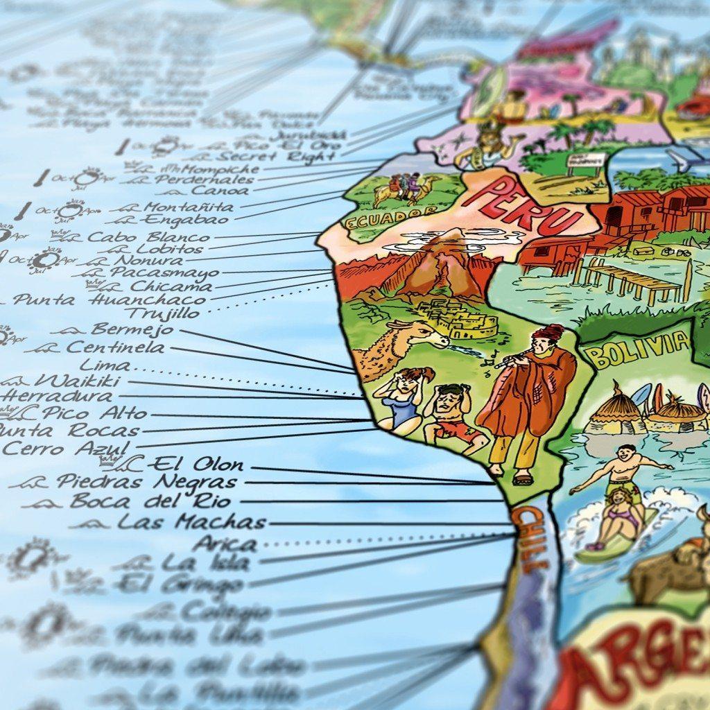 Surftrip wereldkaart