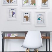 wereldkaart ophangen collage