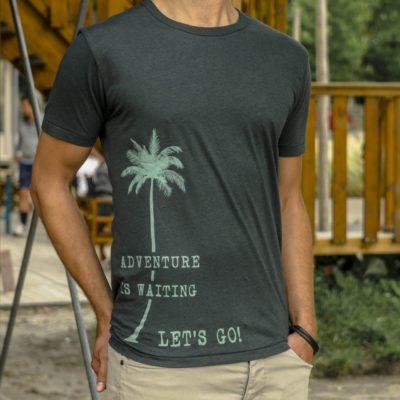 Heren reis t-shirt Adventure