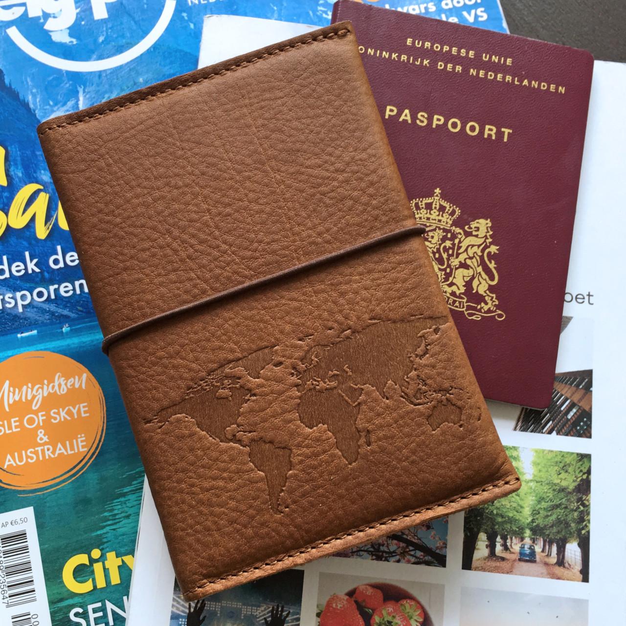 Leren paspoorthoesje deluxe