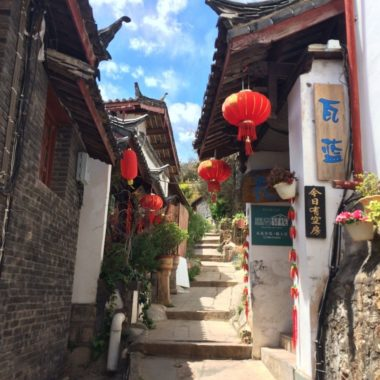 De oude, lieflijke straatjes van Lijiang, China