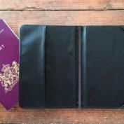 paspoorthoesje wereldkaart binnenkant