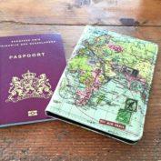 paspoorthoesje wereldkaart