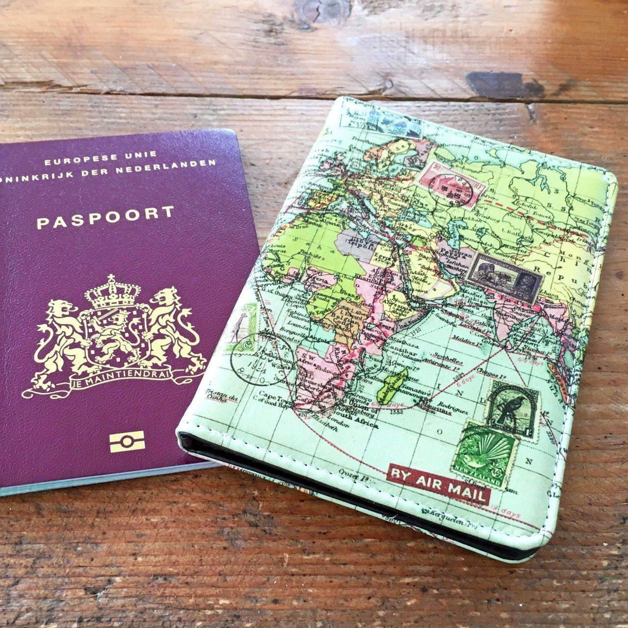 Paspoorthouder wereldkaart