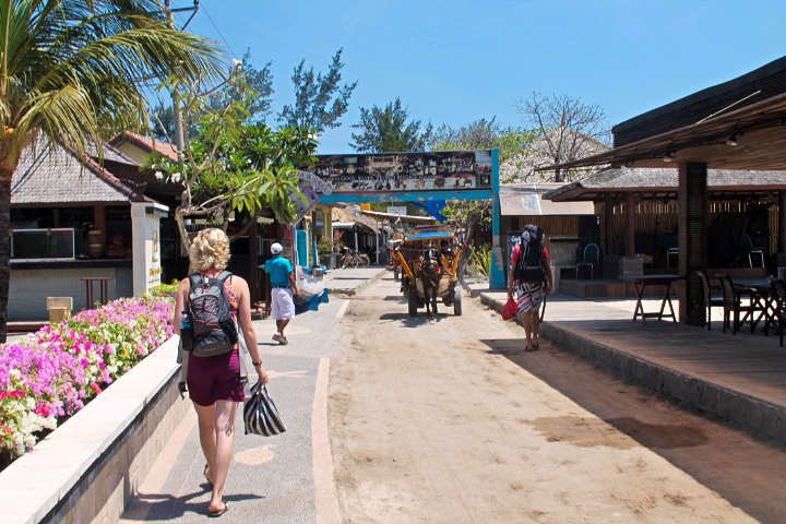 Indonesie-Gili-Trawangan-straat
