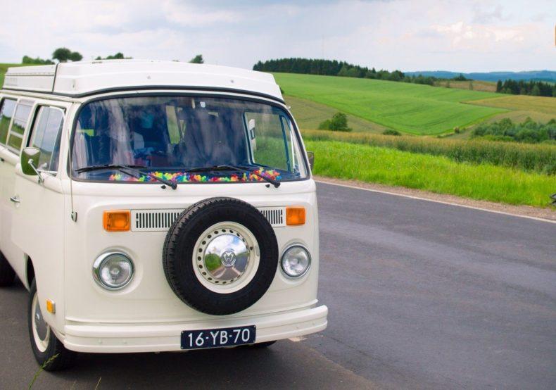 Volkswagen camper roadtrip