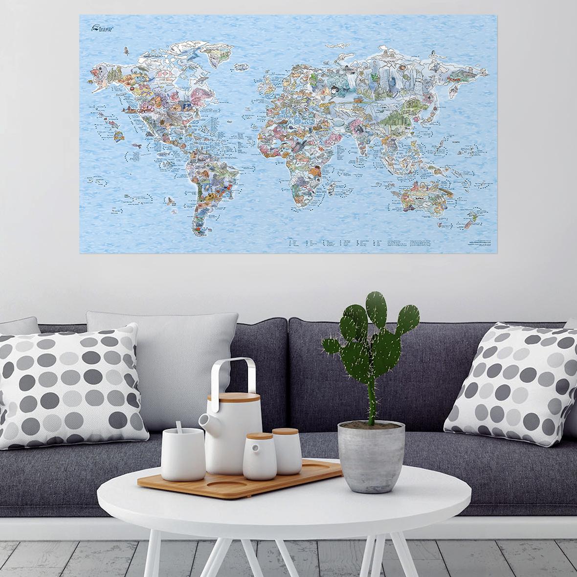 Duikspots wereldkaart