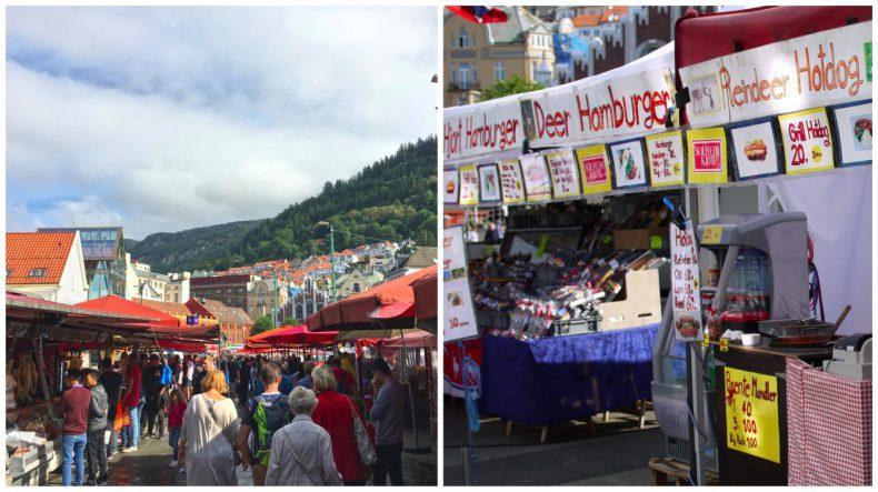 Fisketorget bergen noorwegen vismarkt