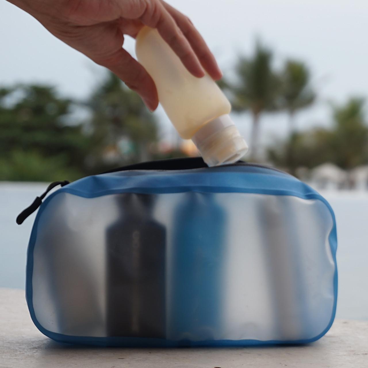 Transparante toilettas handbagage