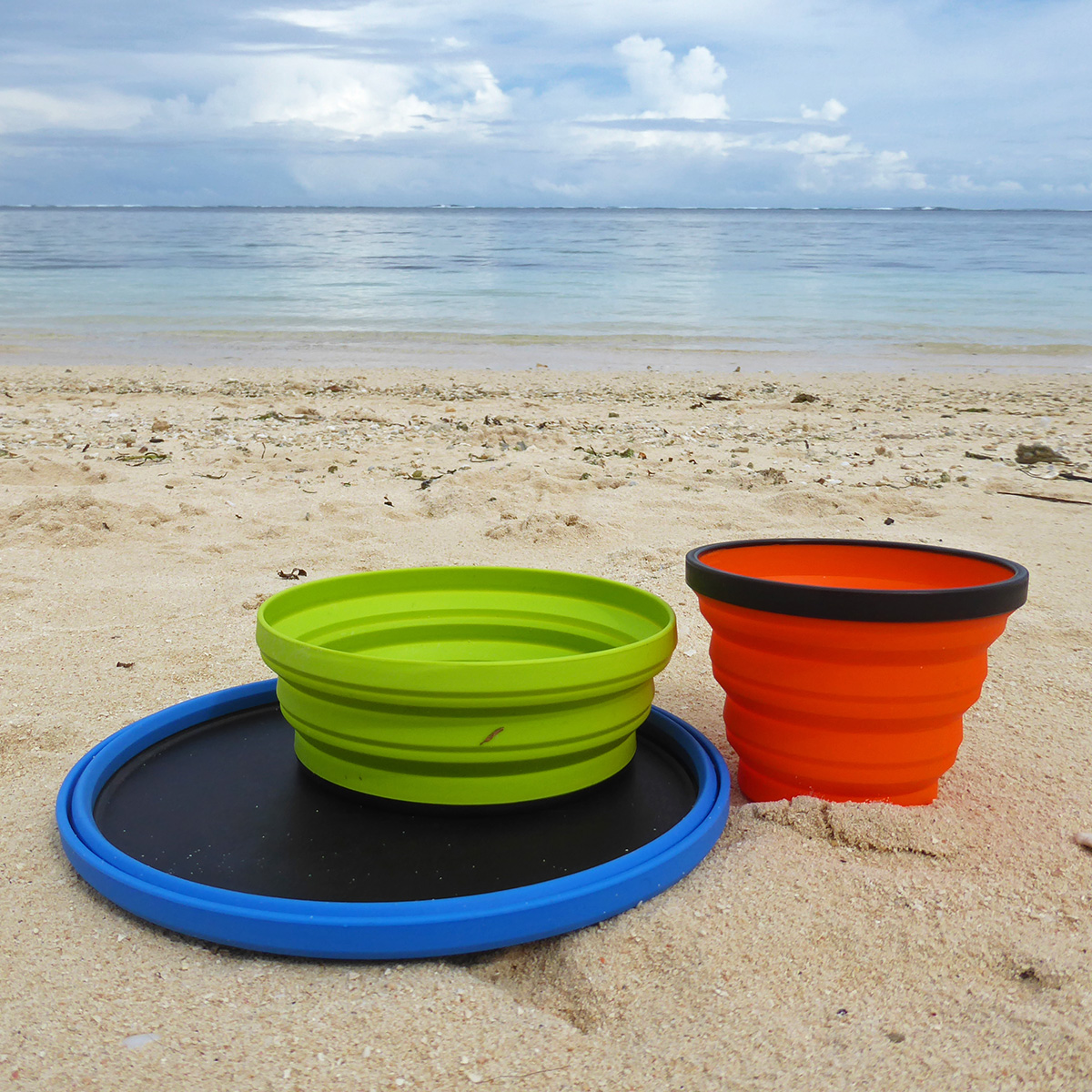 Set opvouwbaar campingservies