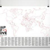 wereldkaart valentijnsdag