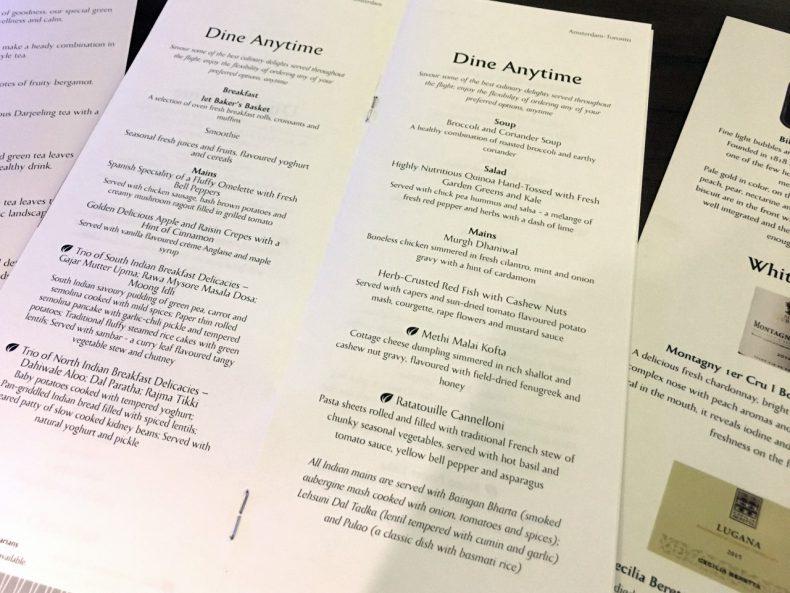 menukaart-business-class