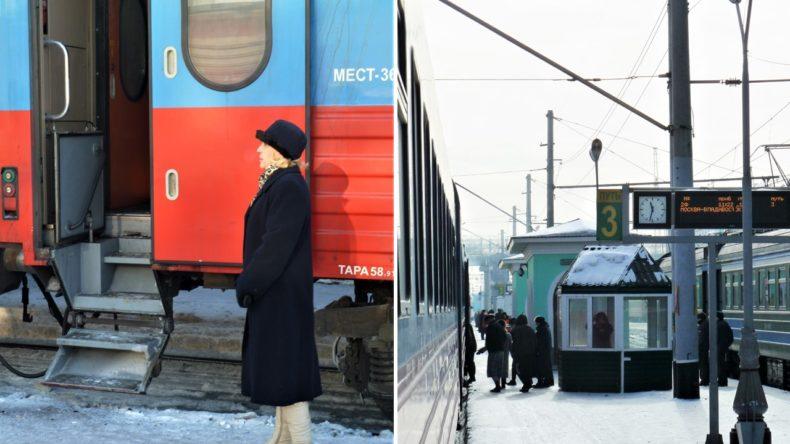 Trans-Siberie-Express-Trein-Buitenkant