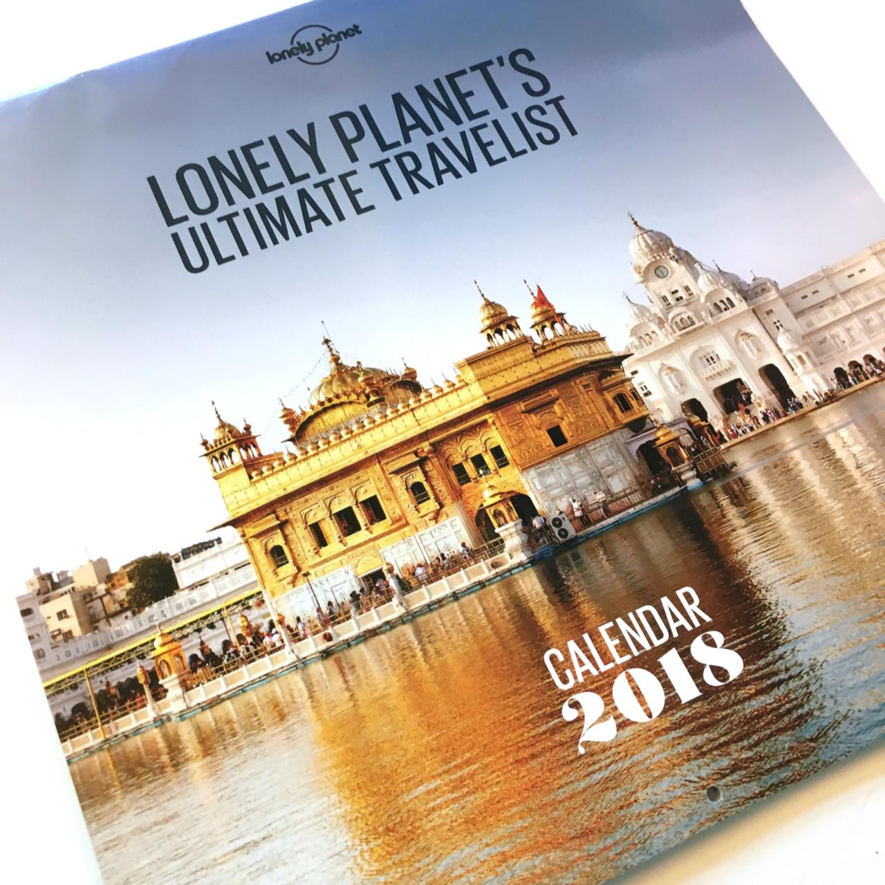 Lonely Planet reiskalender 2018
