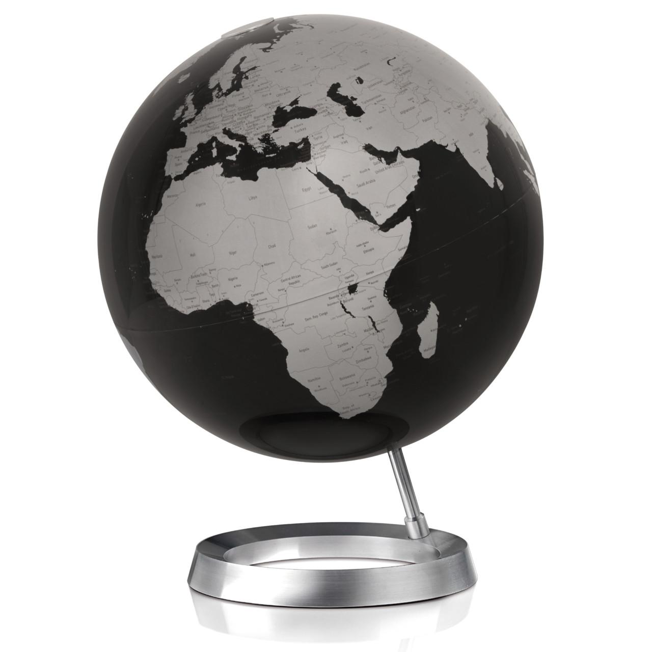Athmosphere wereldbol zwart