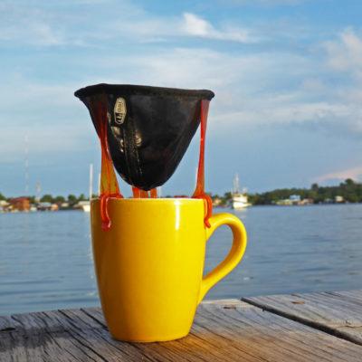 Lichtgewicht, opvouwbaar koffiefilter