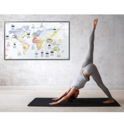 Wereldkaart-yoga