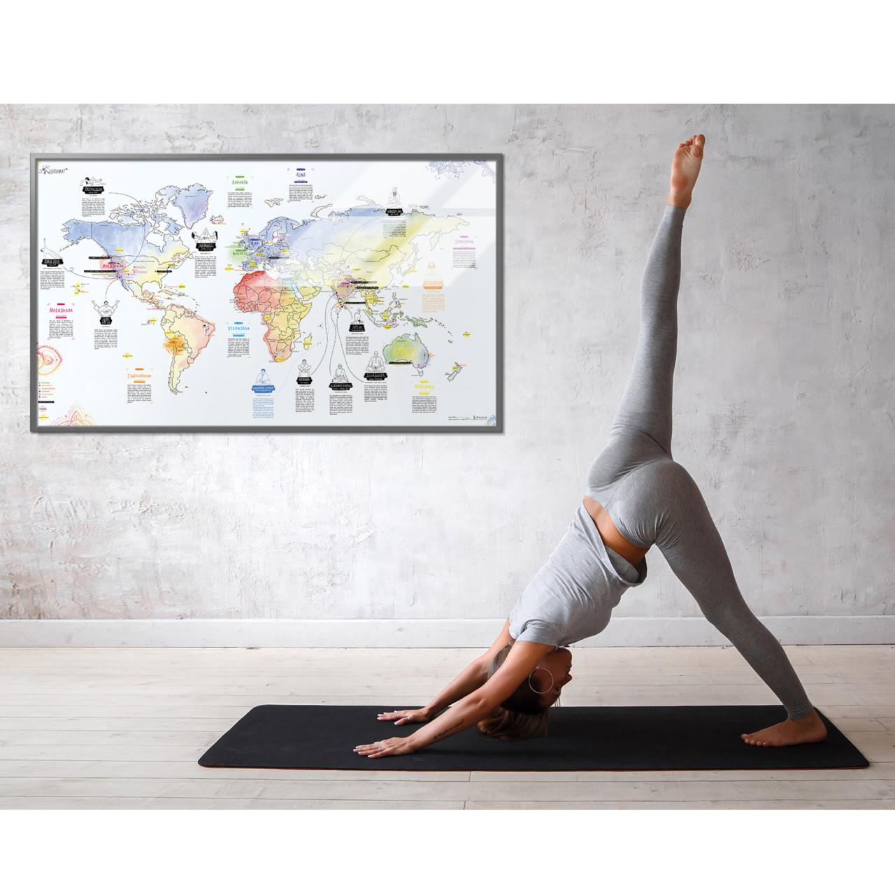 Yoga Map: Wereldkaart voor yoga reizen