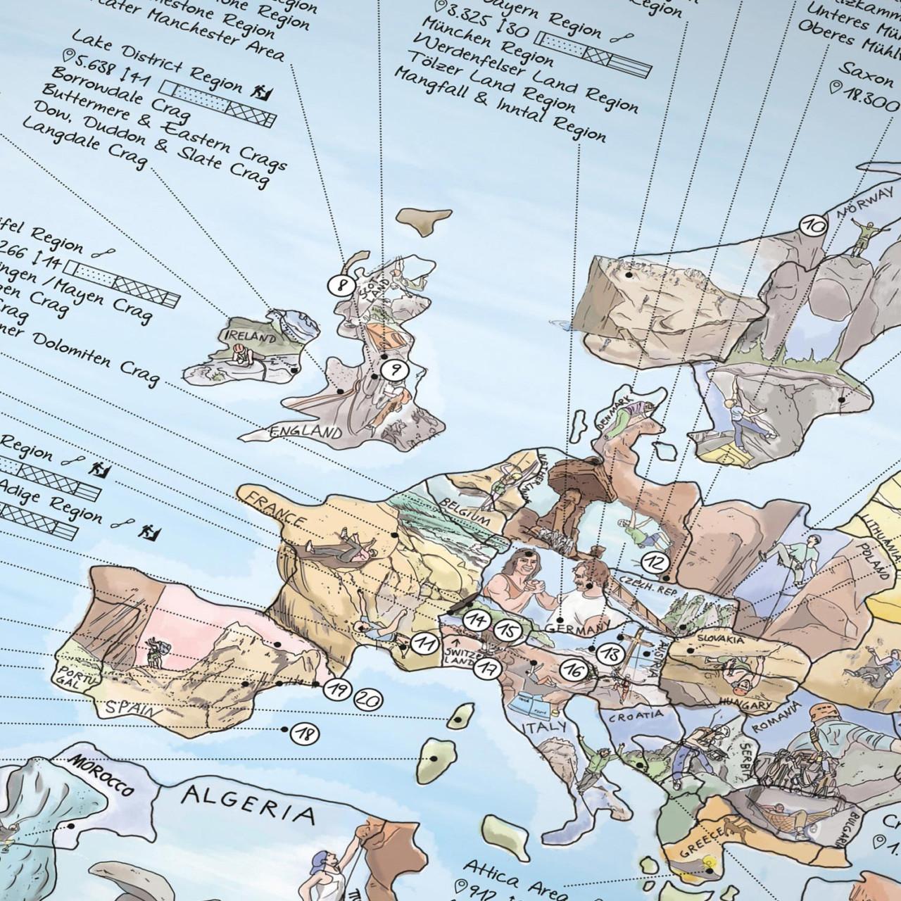 Climbing Map: Wereldkaart voor klimmers