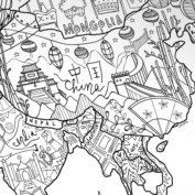 wereldkaart-inkleuren-china