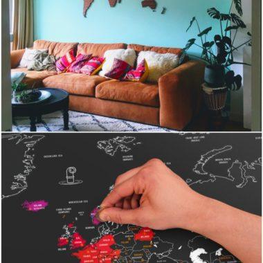 Wereldkaart wanddecoratie: de leukste wereldkaarten op een rij