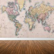 fotobehang-wereldkaart