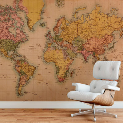 Landkaart behang