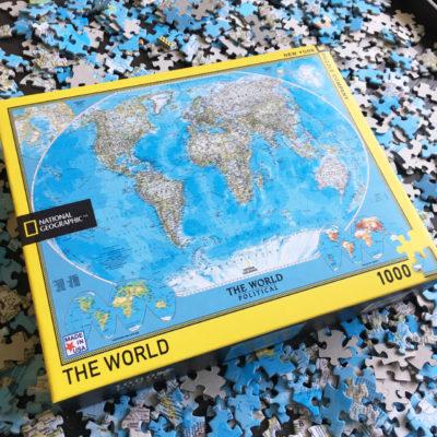 Wereldkaart puzzel 1000 stukjes