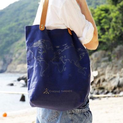 Canvas stitch tote bag