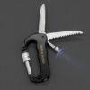 multitool sleutelhanger zaklamp, zakmes en zaagmes