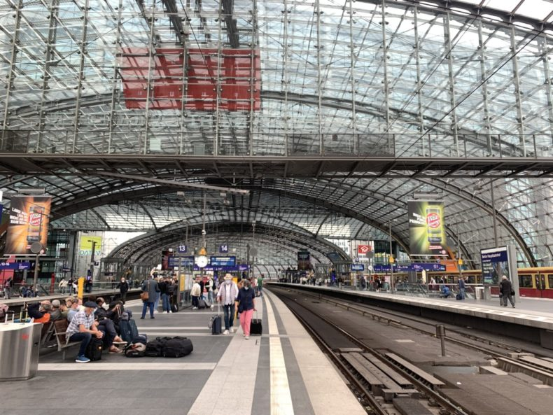 met de trein naar berlijn, stedentrip