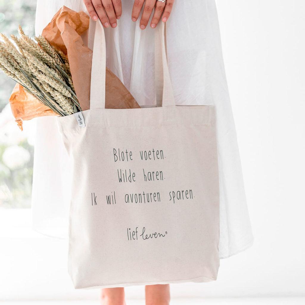 stevige canvas tas lief leven