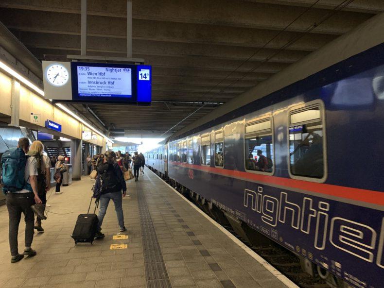 Nightjet innsbruck trein oostenrijk